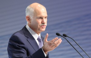 Greek Prime Minister Papandreou delivers speech to BDI meeting in Berlin
