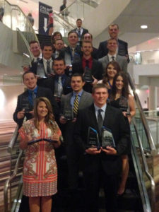 Williams PBL students with their awards at the National Leadership Conference in Atlanta.
