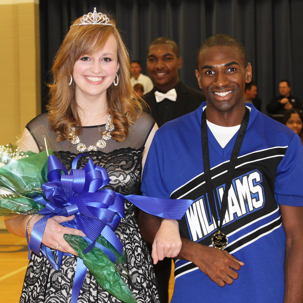 WBC Homecoming queen Moriah Hendrix and king Terry Flowers.